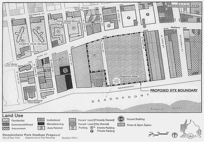 Shown: land use study of the boardwalk in Coney Island
